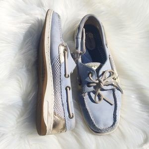 Sperry Topsider Light Blue Leather Boat Shoe